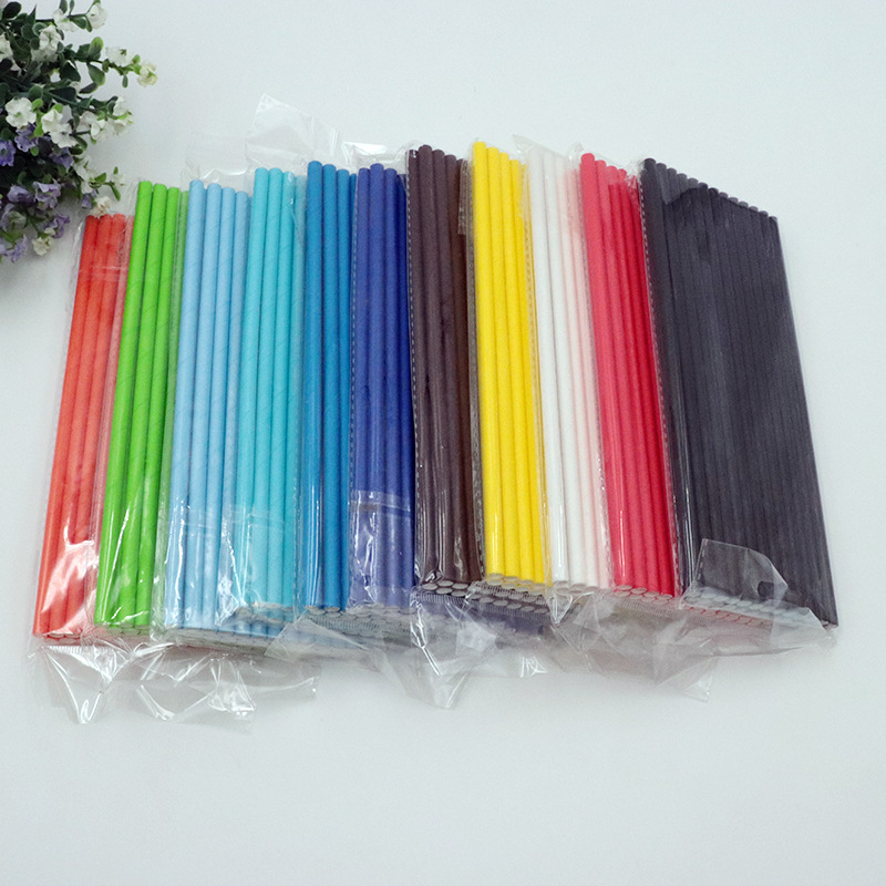[Currently Available] Mi Tao Monochrome Disposable Paper Straw Wholesale Biodegradable Food Grade Craft Paper 25/Bag