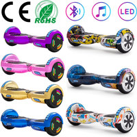 Electric Scooters 6.5 Inch Hoverboard Bluetooth 700W Self Balancing Scooter Balance Board Two Wheels LED For Kids+Remote Key+Bag