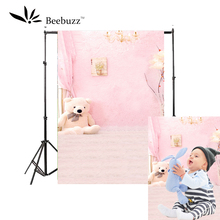Beebuzz photo backdrop children pink cute bear background the baby was photographed in