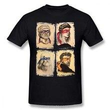 T camisa ciencia tortugas Camiseta de algodón de los hombres hombre Camiseta impresión pantalón corto Casual manga de talla grande impresionante camiseta Streetwear