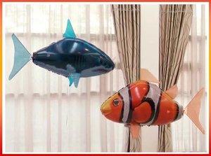 Image 3 - Globo de tiburón a Control remoto para niños, globo de tiburón grande volador, globo inflable de helio, pez payaso, Animal, peces de natación, interacción para niños