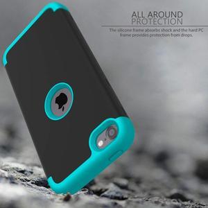 Image 4 - Ударопрочный чехол для iPod Touch 7/Touch 6, ударопрочный защитный чехол с двойным слоем из жесткого поликарбоната и силикона