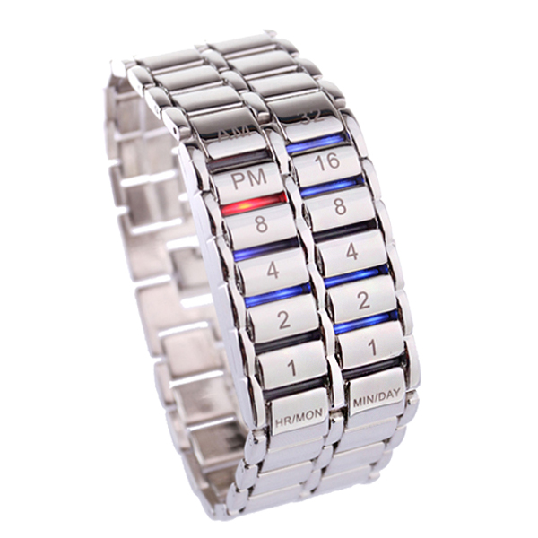 New Men's Binary LED Digital Quartz Wrist Watch Father's Day Fashion Creative Gift MV66