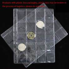 42 kieszenie klasyczne plastikowa moneta posiadacze arkusze do skrzynka Album do przechowywania kolekcji
