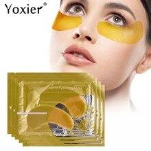 Yoxier 24k Gold Crystal Collagen Eye Mask Dark Circles Anti Aging Moisturizing Eye Bag Colageno Gel Eye Care 10Pcs=5Packs