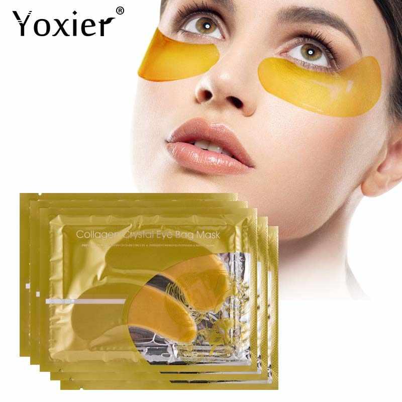 Yoxier Vàng 24 K Pha Lê Mặt Nạ Mắt Collagen Thâm Dưỡng Ẩm Chống Lão Hóa Mắt Túi Colageno Gel Chăm Sóc Mắt 10 chiếc = 5 Gói
