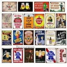 [Mike86] poster chique de pintura retrô, personalizado, stella beer havana, lata, barra de pintura, arte 20*30 cm LTA-1692