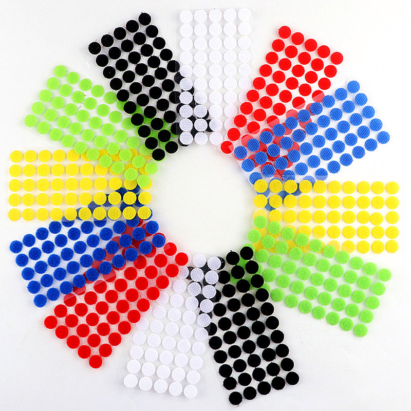 Velcros Adhesive Self Adhesive Fastener Tape Hooks and Loops Magic Tape Dots Sticker Velcros Nylon Home Klitterband Glue