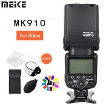 Meike MK-910 mk910 ttl 1/8000s hss sync master & slave flash speedlite para nikon SB-910 SB-900 d7100 d800 d5500 d750 dslr câmera
