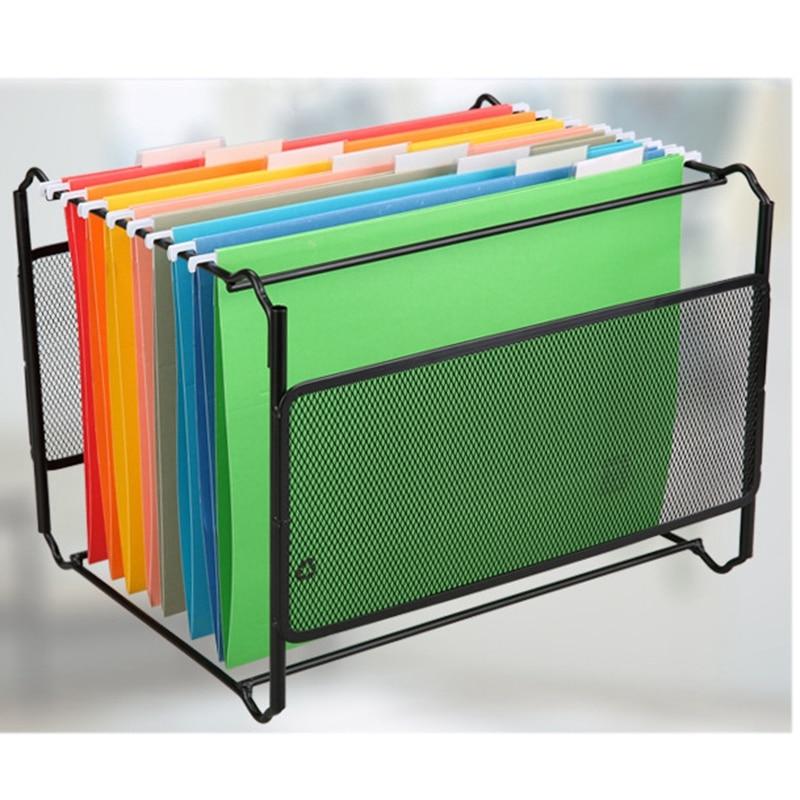 A4 Mesh Metal File Organizer Box Hanging File Folder Box Desk Storage Holder Shelf Holder Storage For Office Home