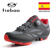 Кроссовки NewTIEBAO мужские для езды на велосипеде, дышащие, самозакрывающиеся, для горных велосипедов