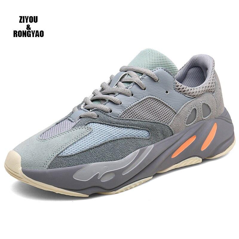 Vintage Dad Men Shoes 2019 Kanye Fashion West Mesh Light Breathable Men Casual Tenis Shoes Men Sneakers Zapatos Hombre#700