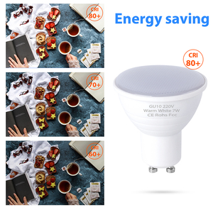 Image 5 - MR16 Spot GU10 Led Ampoule lumière lampe à Led 220V Lampara 5W 7W Bombillas LED projecteur Ampoule GU5.3 Ampoule 2835SMD éclairage Hmoe