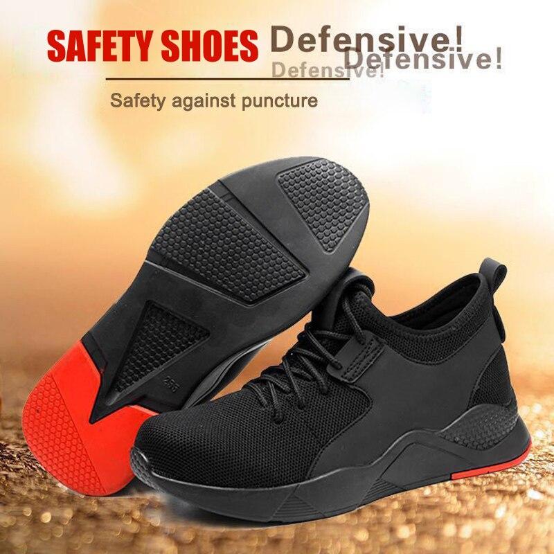 Сверхпрочные кроссовки, безопасная рабочая обувь, дышащие противоскользящие проколы, анти пирсинг для мужчин OPK Кроссовки и кеды      АлиЭкспресс