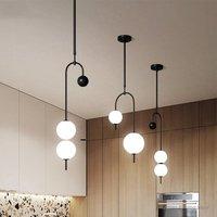 Nordic Modern Designer Pendant Lamp Simple Bar Table Dining Room Restaurant Magic Bean Pendant Lights Office Ball Grape Hanglamp