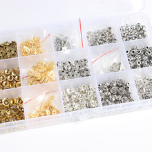 LanLi 100pcs Spacer Bead Spacers assembly  DIY Fashion Jewelry Findings Making Box Tool Beads Accessories