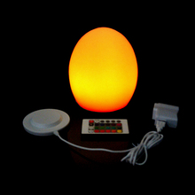 D12*H15cm Colorful LED Egg bar table lamp Break-resistant, rechargeable LED glowing egg night light for Christmas Free shipping led night lights egg lamp christmas decor rgb color change home bar furniture set d14 h19cm free shipping 20pcs lot