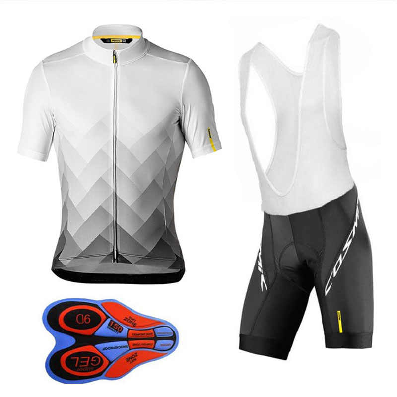 2019 Team Mavic Cycling Jerseys Bike Wear clothes Quick-Dry bib gel Sets Clothing Ropa Ciclismo uniformes Maillot Sport Wear #85