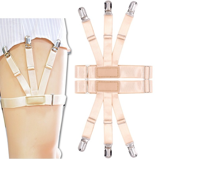 1Pair Male Shirt Garters Stays Business Suspenders Braces Men's Garter Belt Hot Sale 2019 New 2