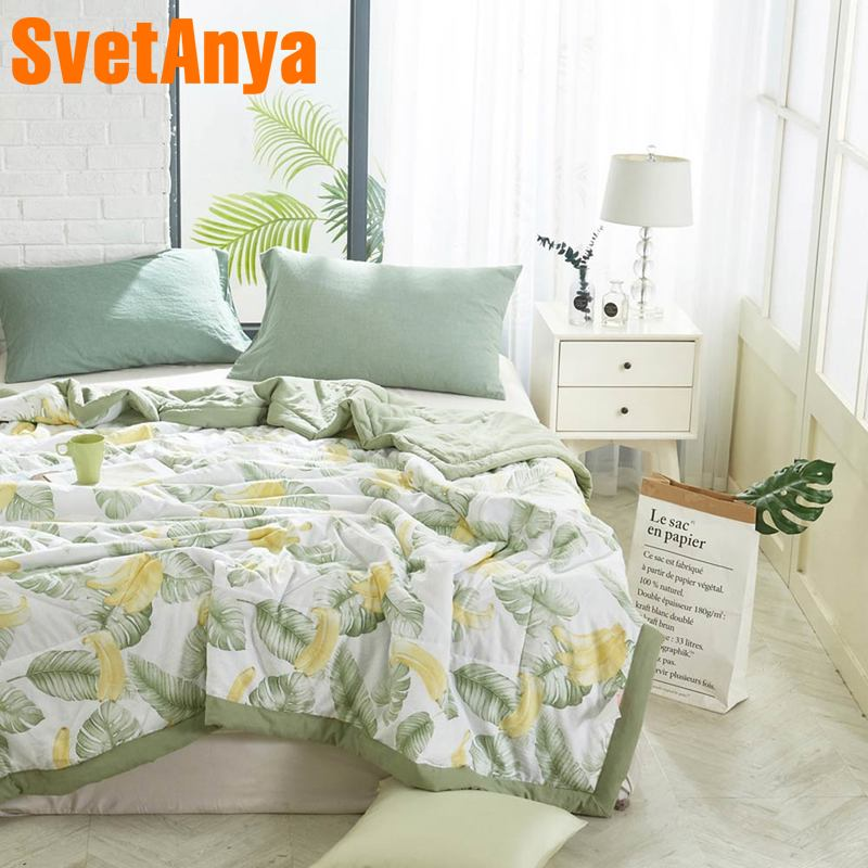 Svetanya Print Thin Quilt Bedding Throws Blanket (no Pillowcase)