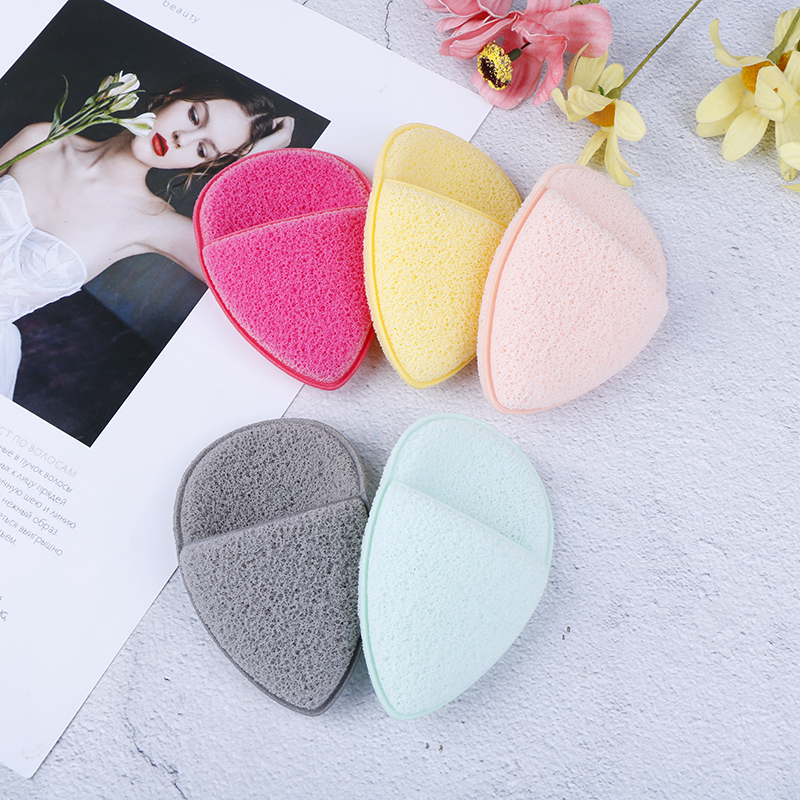 1Pcs Water Drop Shape Konjac Sponge Cosmetic Puff Face Cleaning Sponge Natural Konjac Puff Facial Cleanser Tool Wash Flutter