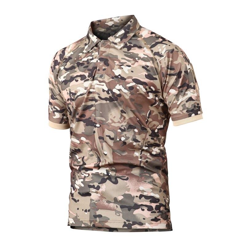 Marea Bella Estate Esercito T Degli Uomini Della Camicia Militare Camicia Uomini di Combattimento Tattico T Camicette Camouflage Traspirante Quick Dry Tee Shirt s 2xl - 4