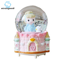 Strongwell Cartoon Doll Snow Globe Crystal Ball Rotating Christmas Music Box Christmas Decoration for Home Decoration Accssories
