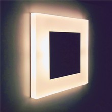 新しい階段壁灯 3 ワットの正方形のアクリル壁ランプ凹型フットライト屋内ナイトライト照明現代led燭台