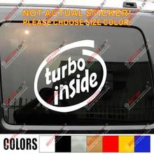 Adesivo para carro de vinil interior turbo decalque