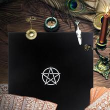 Tarot negro Tarot tarjetas fiesta mantel pentagrama Retro mantel PARA LA divinización Vintage