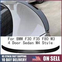 새로운 자동차 탄소 섬유 후면 트렁크 스포일러 윙 부츠 립 BMW F30 F35 F80 M3 4 도어 세단 M4 스타일 자동차 액세서리 자동차 스타일링