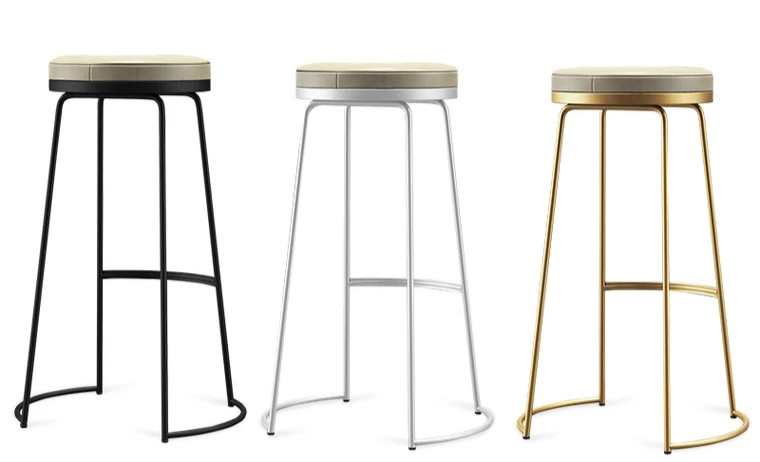 New Nordic Bar Chair Simple Modern Bar Chair European High Bar Reception Bar Stool Leisure Chair