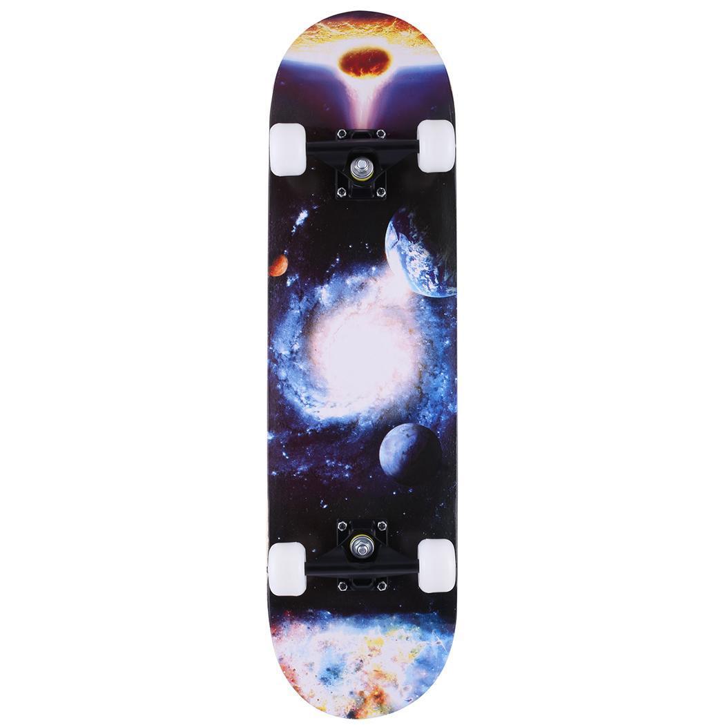 Complete Skate Boards Adult Teens Girls Boys Maple Skateboard for Beginners Aluminum Alloy Anti-Slip Surface Design 2