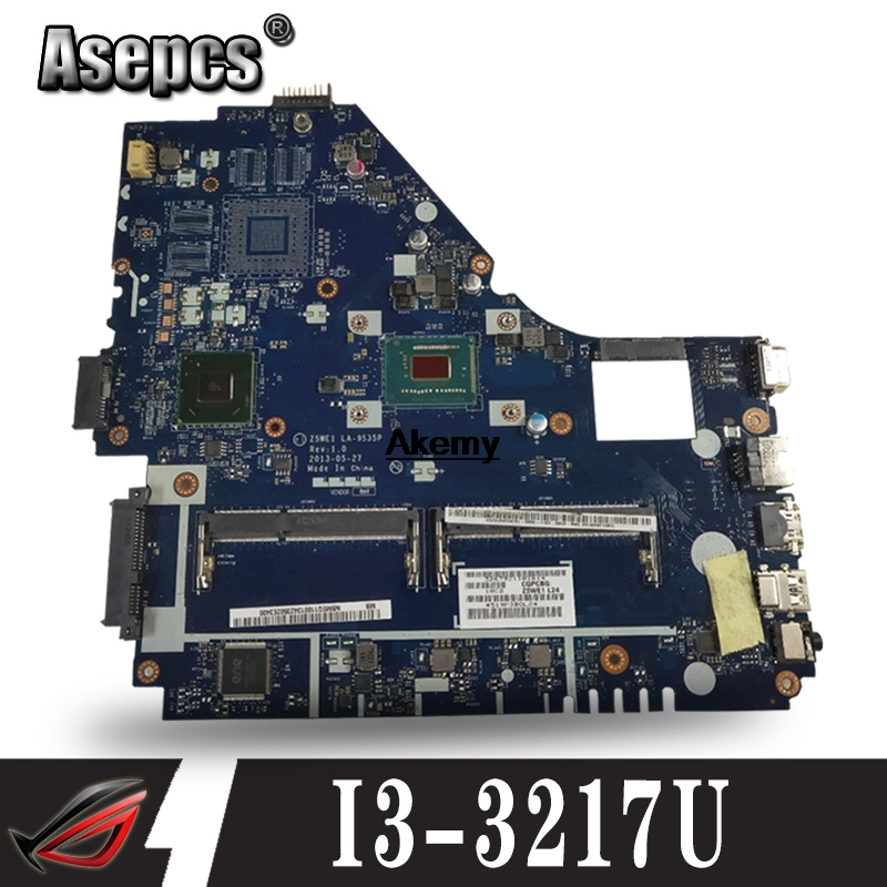 Original for ACER E1-570 laptop <font><b>motherboard</b></font> E1-570 I3-3217U HM77 Z5WE1 <font><b>LA</b></font>-<font><b>9535P</b></font> tested good free shipping image