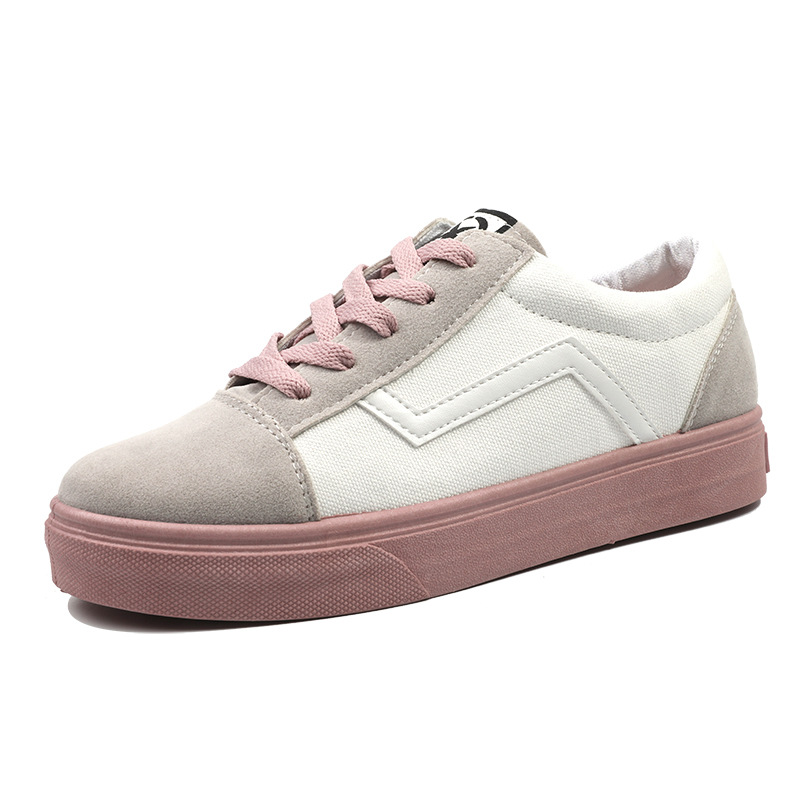 Image 5 - SWYIVY Canvas Shoes Women Sneakers Lace Up Flat Woman Casual Shoes Spring 2020 New Striped Sneakers For Women Shoe Ladies FlatWomens Vulcanize Shoes   -