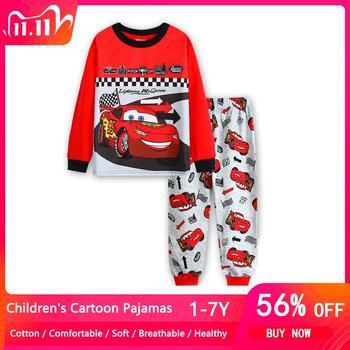 Spring Autumn Kids Pajamas Car Children McQueen Sleepwear Baby Sets Boys Girls Pyjamas Pijamas Cotton Nightwear Clothes - discount item  56% OFF Children's Clothing