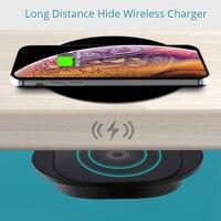 25mm Fern Drahtlose Ladegerät Für iPhone 12 Pro 8 Plus Samsung S21 Xiaomi Mi 11 Möbel Büro Tisch schreibtisch Lade Basis