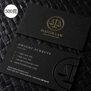 Image 3 - 高 グレード金箔鋭利な黒のカード凹凸ホットスタンプシルバー uv カード印刷カスタム