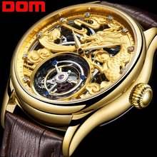 Dom часы с турбийоном Для мужчин лучший бренд класса люкс Водонепроницаемый