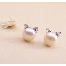 2019 Real Promotion Women Brinco Korean Version Of For Cat Cute Earrings Simple And Sweet Temperament Japanese Fashion