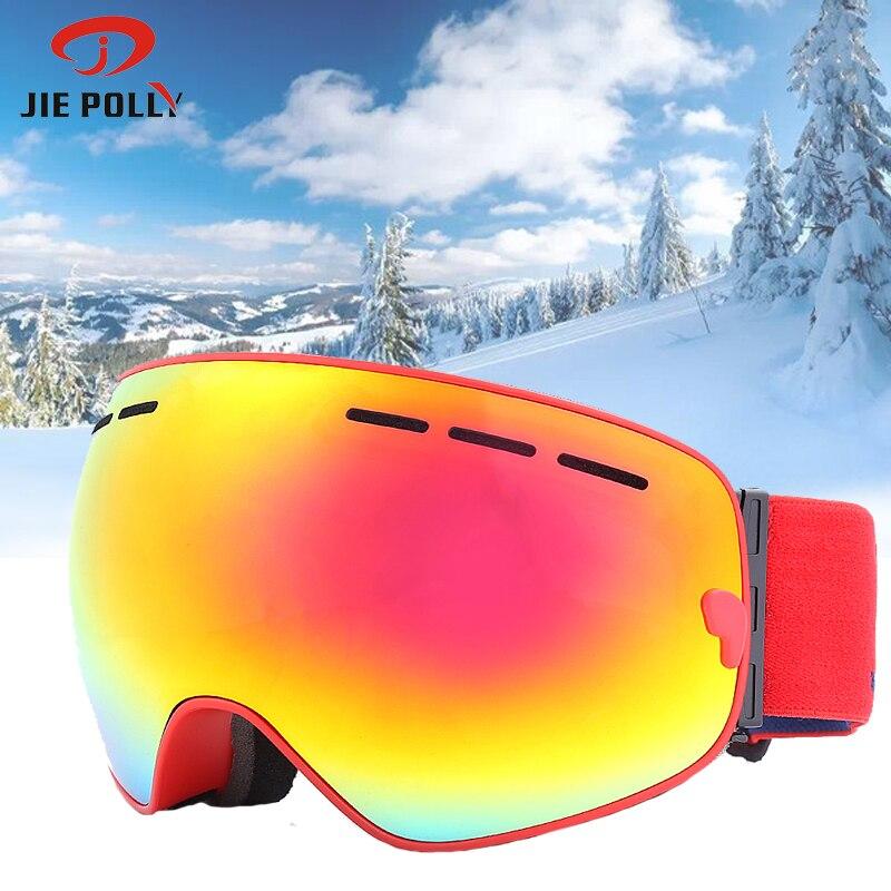 UV400 Anti fog Double Layers Ski Goggles Mask Men Women Snowboard Goggles Glasses Skiing Snow Snowboard Eyewear|Skiing Eyewear| |  - title=