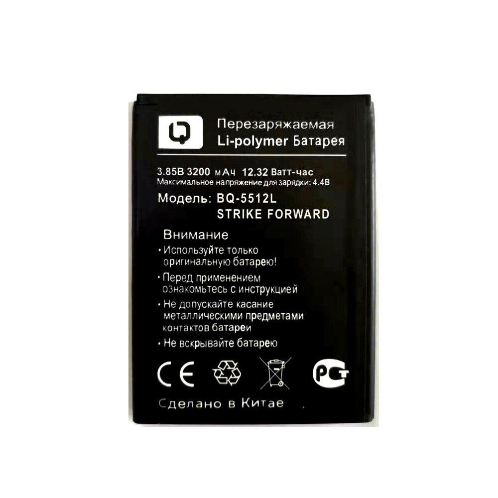 Новый 100% высококачественный аккумулятор емкостью 3200 мАч для мобильного телефона BQ BQ-5512L STRIKE, аккумулятор + трек-код