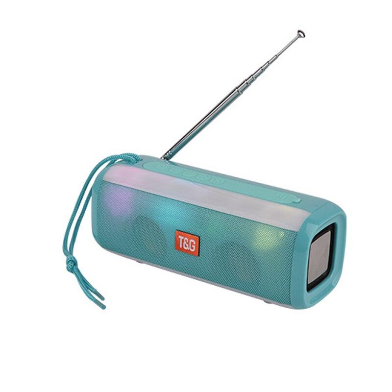 Портативный bluetooth динамик светодиодный фонарь aux бас звуковая