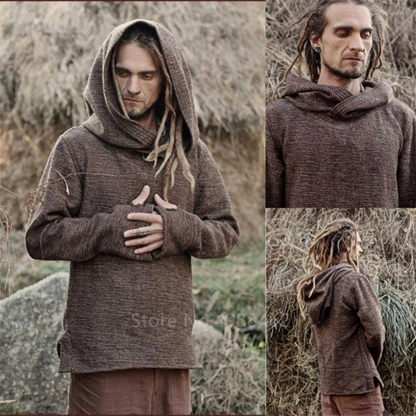 Medieval Shirt Robe Viking Mens Dress Knight Renaissance Cotton Tunic Short Sleeve Shirts Tops Costume Disfraz Medieval With Bel