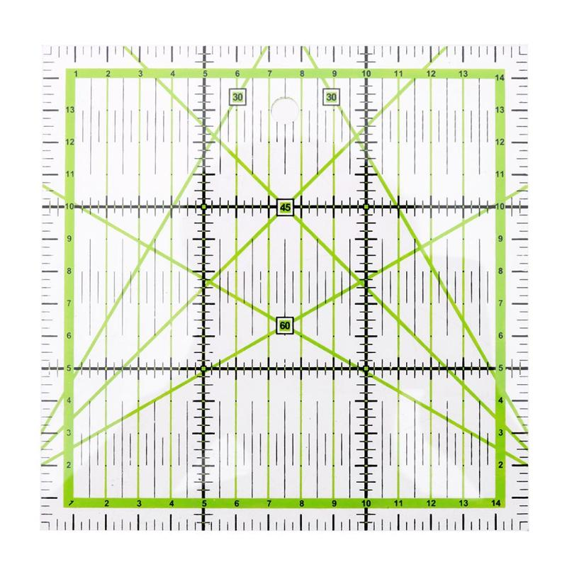 15x15cm Acrylic Square Patchwork Feet Tailor Yardstick Cloth Cutting Quilting Rulers DIY Handmade Sewing Tools