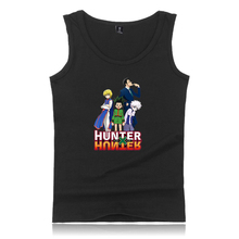 2020 Hunter x Hunter fajna Hipster casualowa wygodna popularna letnia Hunter x Hunter bez rękawów O-neck bez rękawów dla mężczyzn tanie tanio CN (pochodzenie) Suknem Na co dzień Drukuj Tank Tops Poliester Men women Black White Gray Navy Young People High Quality