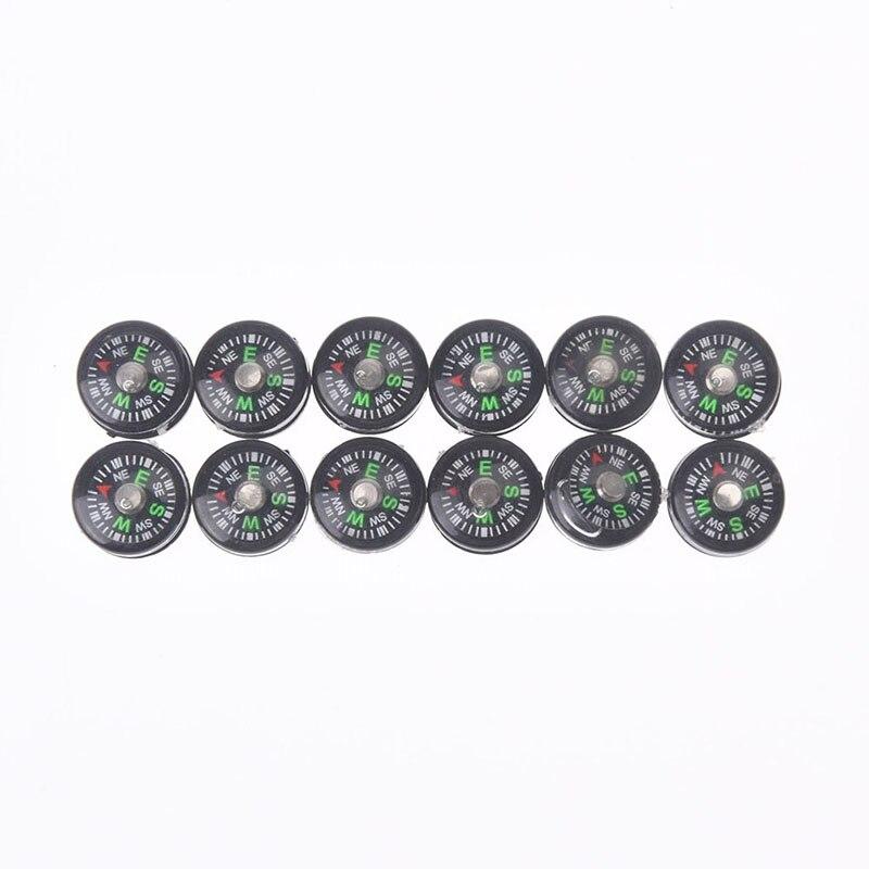 12 шт. черный пластиковый Компас 12 мм портативный ручной спортивный кемпинг путешествия Туризм Охота компас