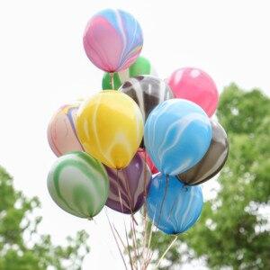 Image 5 - 10/20/30 adet gümüş pembe siyah Metal lateks balonlar helyum Globos düğün süslemeleri mutlu doğum günü partisi balon anniversaire