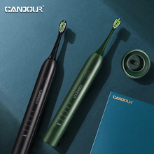 CANDOUR CD-5133 Sonic Electric Toothbrush Tooth brush USB Rechargeable adult IPX7 Ultrasonic automatic 15 Mode with Travel case