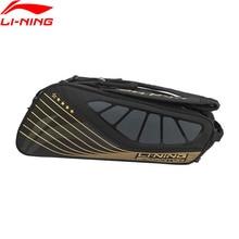 Li-Ning бадминтон ракетка сумка для 6-pack обуви карманный Профессиональный Спорт Спортивная ракетка сумка ABJP076 ZYF348